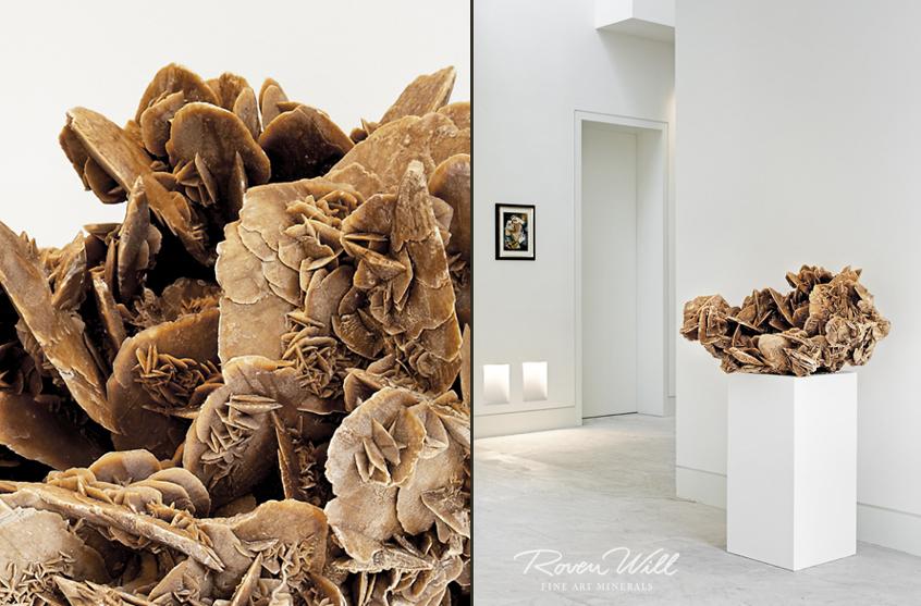 Imposante und dekorative Wüstenrose aus der Sahara - 10.000 Jahre alt